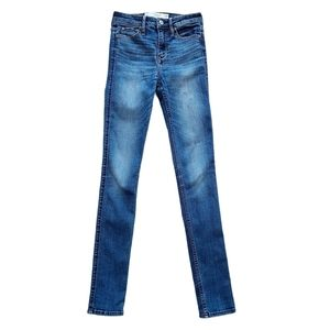 Abercrombie & Fitch Skinny Hi Rise Mid Wash Jeans